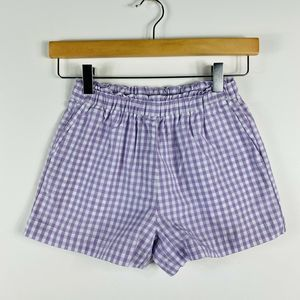 J Crew Crewcuts Purple White Gingham Shorts